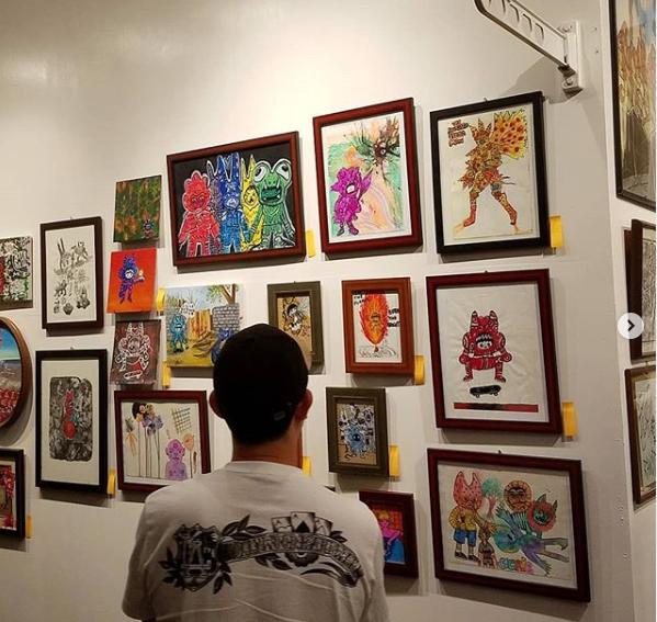 Art gallery showing - framed artwork for sale Japan