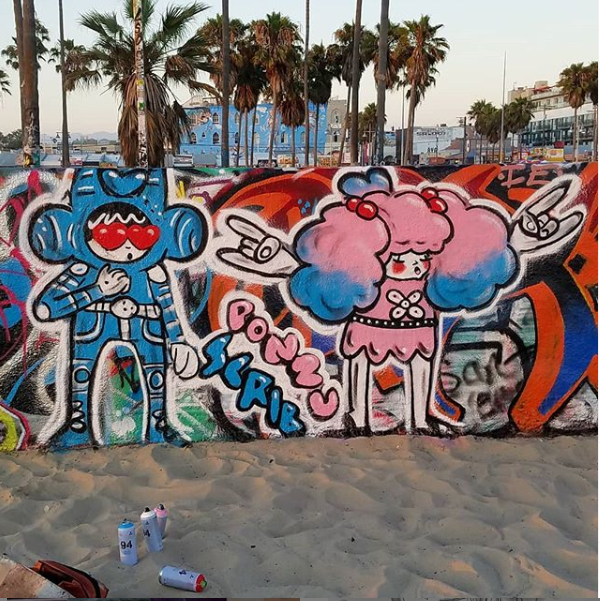 Ponz and Little Donny artwork Venice