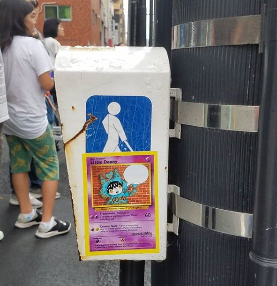 Little Donny sticker spotted in Japan