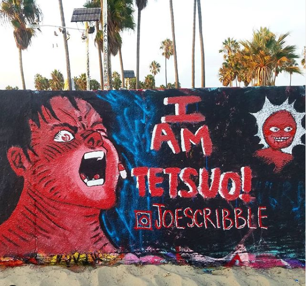 I Am Tesuo! anime Venice Beach wall mural