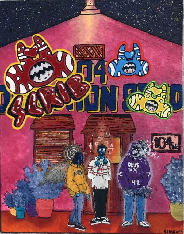 album cover commissioned by a Venice California band