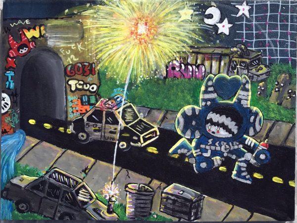 LAPD contemporary art by LA artist