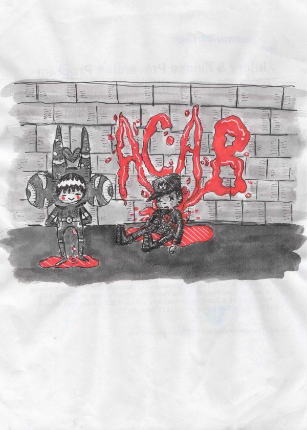 ACAB print - art by Joe Scribble