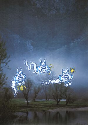 Phantoms print by artist Joe Scribble