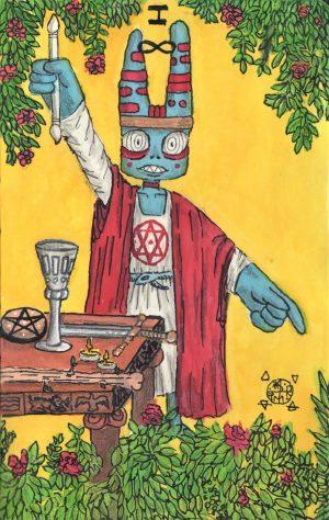 The Magician print art by Joe Scribble